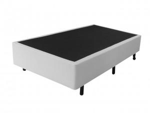 Box Inverter Couro Ecológico Linho Branco Solteiro King 0.96x2.03x0.38