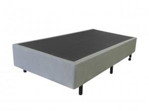 Box Inverter Couro Ecológico Linho Cinza Solteiro 0.88x1.88x38
