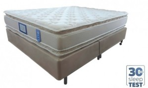 Conjunto Double Pillow New Hotelaria Queen 1.58x1.98x0.74 + Travesseiro Anti-Stress