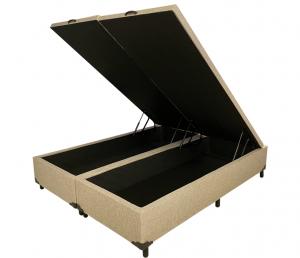 Box Baú Chenille Queen 1.58x1.98x0.40