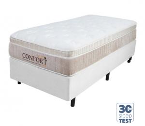 Conjunto Euro Confort Toque de Classe Solteiro 0.88x1.88x0.66