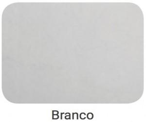 Cabeceira Barcelona Couro Eco Tick Branco 1.60