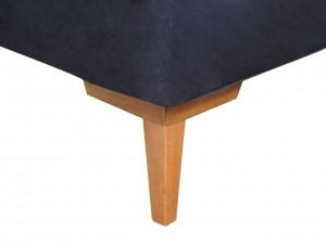 Cama Inverter Suede Preto - Casal 1.38x1.88x0.33