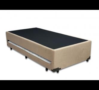Box Auxiliar Classe de Espuma Suede Bege Solteiro 0.88x1.88x0.40