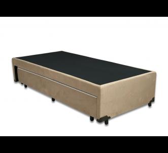 Box Auxiliar Classe de Molas Suede Bege Solteiro 0.88x1.88x0.40