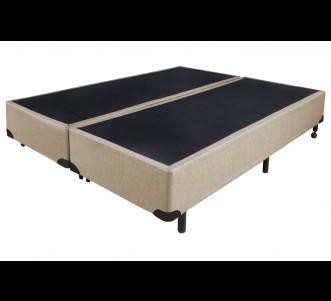 Box Universal TC Tecido Linho Bege Queen 1.58x1.98x0.38