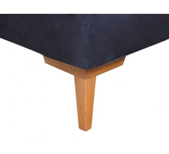 Cama Inverter Suede Preto - Queen 1.58x1.98x0.33
